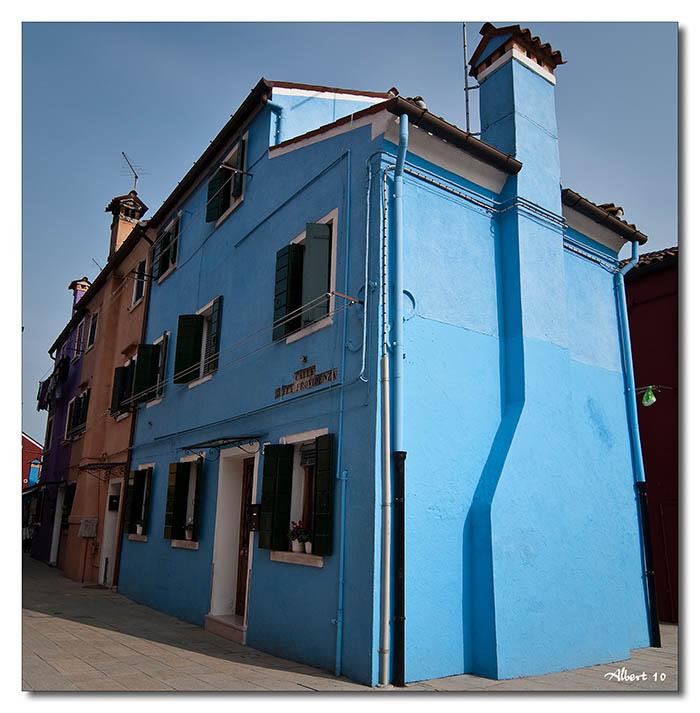 Casa en blau