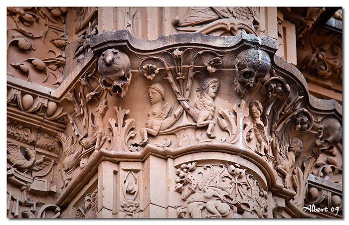 Detall de la Façana de la Universitat - La granota de la luxúria